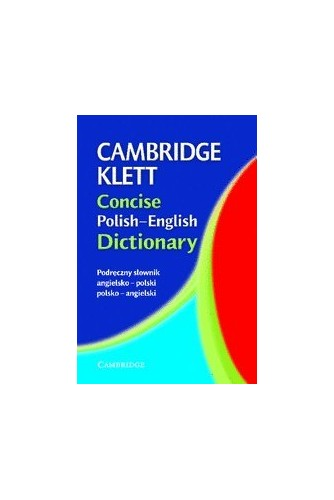 Cambridge Klett Concise Polish-English Dictionary By Cambridge University Press