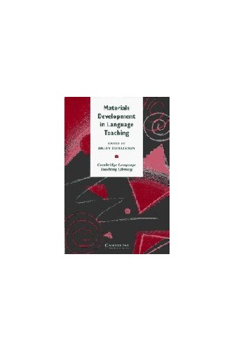 Materials Development in Language Teaching By Brian Tomlinson (University of Luton)