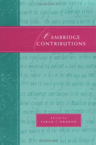Cambridge Contributions By Edited by Sarah J. Ormrod (University of Cambridge)