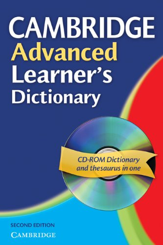 Cambridge Advanced Learner's Dictionary Paperback with CD-ROM By Cambridge University Press