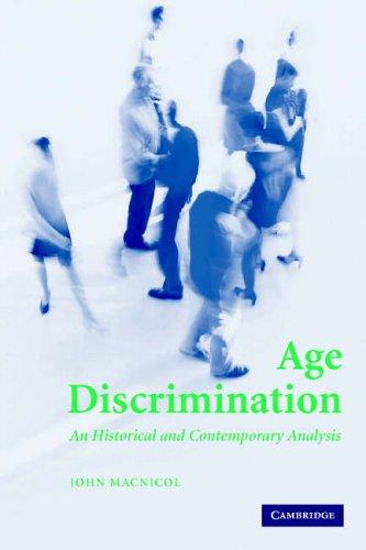Age Discrimination By John Macnicol (London School of Economics and Political Science)