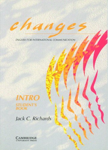 Changes Intro Student's book By Jack C. Richards