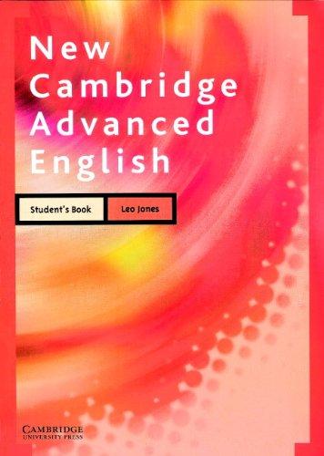 New Cambridge Advanced English Student's book By Leo Jones