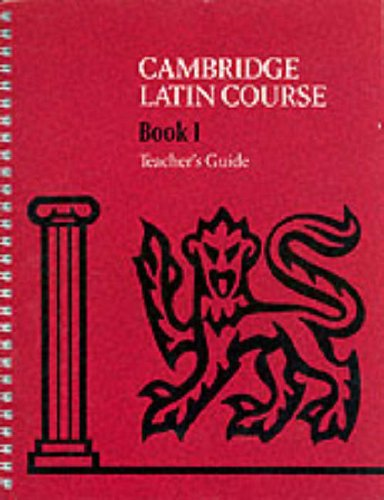 Cambridge Latin Course 1 Teacher's Guide By Cambridge School Classics Project