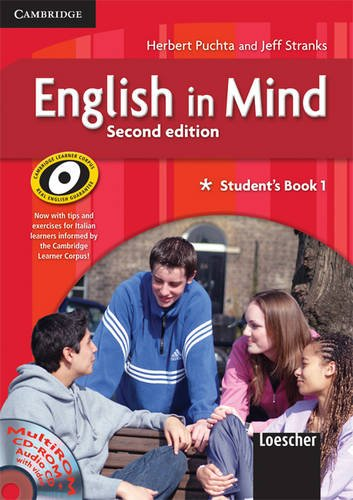 English in Mind 1 Student's Book and Workbook with Multirom and Companion Book Italian Edition by Herbert Puchta