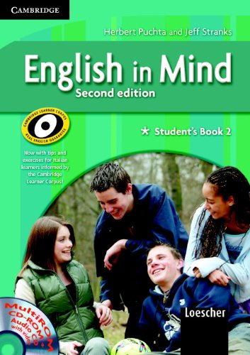 English in Mind 2 Student's Book and Workbook with Multirom and Companion Book Italian Edition by Herbert Puchta