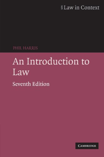 An Introduction to Law By Phil Harris