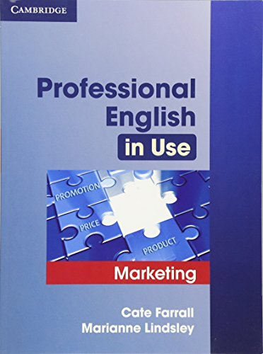 Professional English in Use Marketing Edition with answers By Cate Farrall