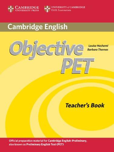 Objective PET Teacher's Book by Barbara Thomas