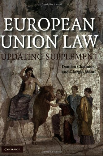 European Union Law Book and Updating Supplement Pack 2 Paperbacks By Damian Chalmers