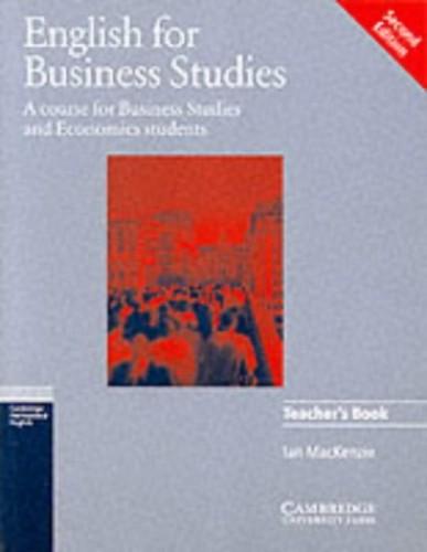 English for Business Studies Teacher's book By Ian Mackenzie