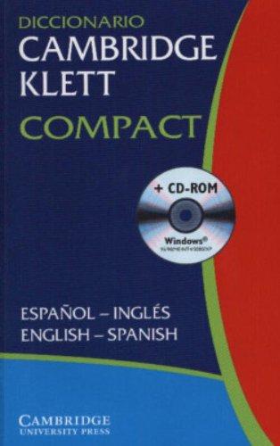 Diccionario Cambridge Klett Compact Espanol-Ingles/English-Spanish Paperback with CD ROM By Cambridge University Press