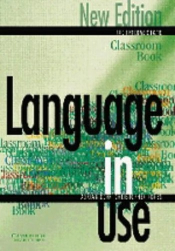 Language in Use Pre-Intermediate Classroom book By Christopher Jones