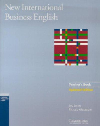 New International Business English Updated Edition Teacher's Book By Leo Jones