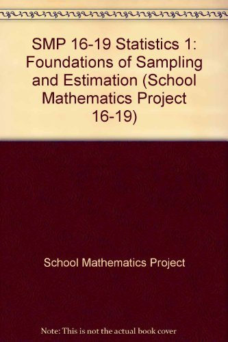 SMP 16-19 Statistics 1 By School Mathematics Project