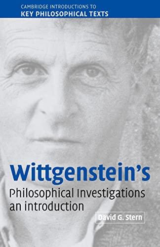 Wittgenstein's Philosophical Investigations By David G. Stern (University of Iowa)