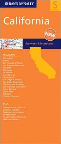 California State Map By Rand McNally