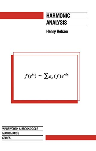 Harmonic Analysis By Henry Helson
