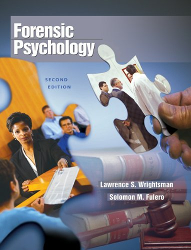 Forensic Psychology By Lawrence S. Wrightsman