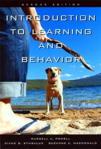 Learning and Behavior By Suzanne E MacDonald