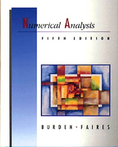 Numerical Analysis By Richard L. Burden