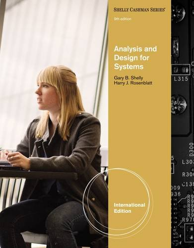 Systems Analysis And Design By Gary B. Shelly