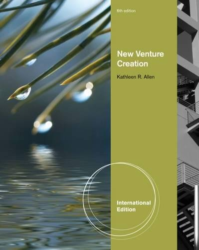 New Venture Creation, International Edition By Kathleen R. Allen (University of Southern California)