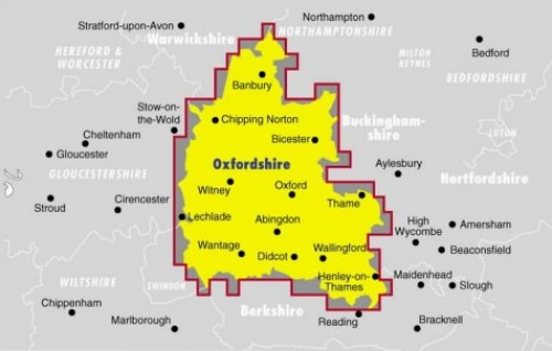 Ordnance Survey Oxfordshire Street Atlas By George Philip & Son
