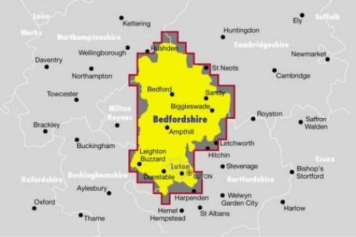 Ordnance Survey Bedfordshire Street Atlas