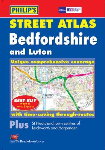 Philip's Street Atlas Bedfordshire