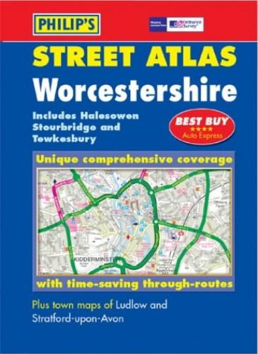 Philip's Street Atlas Worcestershire By Various.