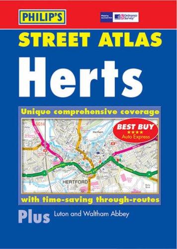 Philip's Street Atlas Hertfordshire By Philips
