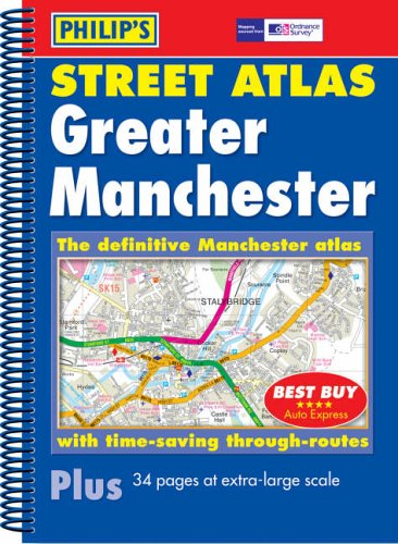 Philip's Street Atlas Greater Manchester By ANON