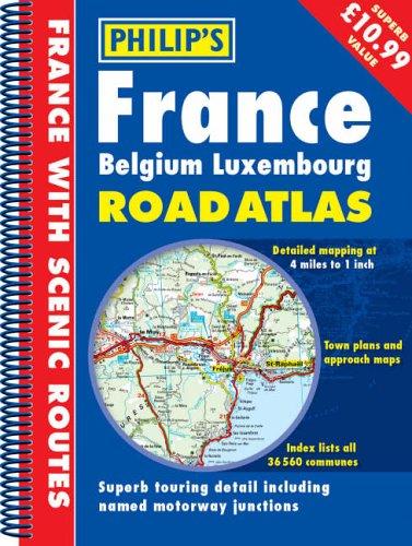 France, Belgium, Luxemborg Road Atlas