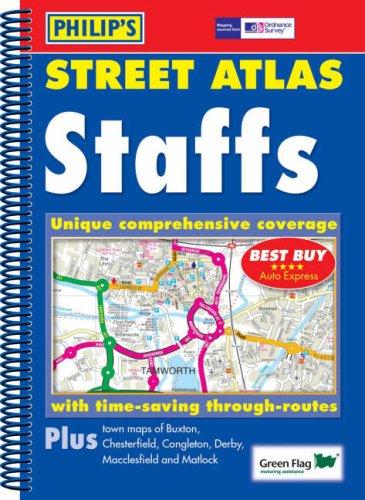 Philip's Street Atlas Staffordshire