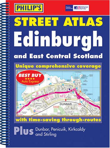 Philip's Street Atlas Edinburgh and East Central Scotland By Philips