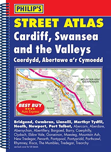 Philip's Street Atlas Cardiff, Swansea and the Valleys By Philip's Maps