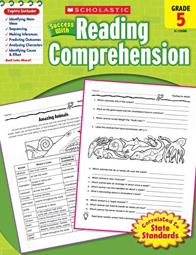 Scholastic Success with Reading Comprehension, Grade 5 By Scholastic