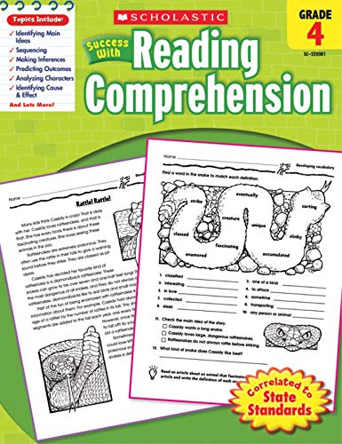 Scholastic Success with Reading Comprehension, Grade 4 By Scholastic