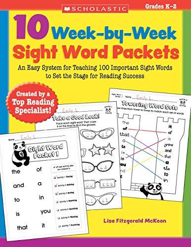 10 Week-By-Week Sight Word Packets By Lisa McKeon