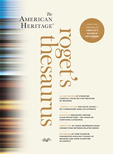 American Heritage Roget's Thesaurus By Hmh