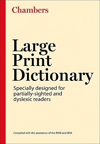 Chambers Large Print Dictionary, 2nd edition By Chambers