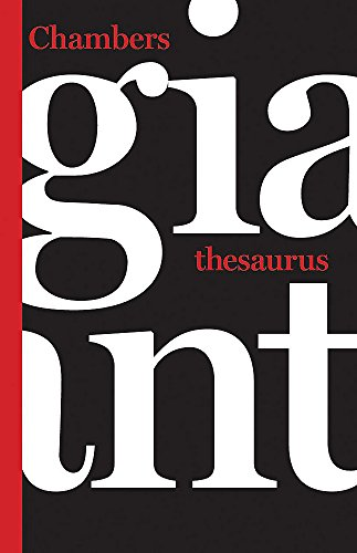 Chambers Giant Thesaurus By Chambers