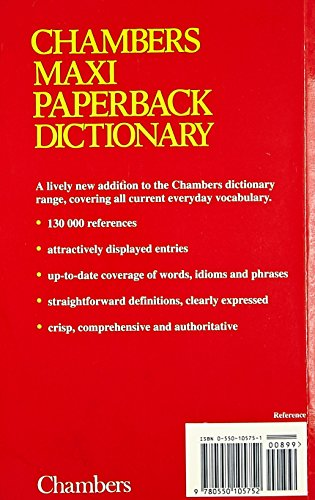 Chambers Maxi Paperback Dictionary By Edited by Catherine Schwarz