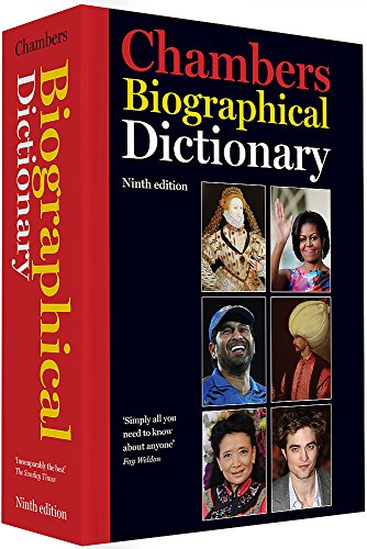 Chambers Biographical Dictionary by Chambers