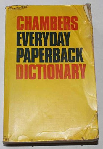 Chambers Everyday Dictionary By A.M. Macdonald