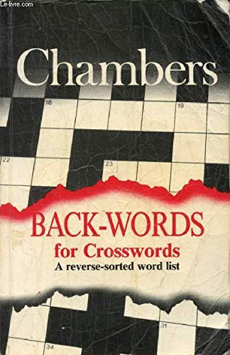 Back-words for Crosswords By Edited by J.C.P. Schwarz
