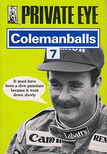 """Private Eye's"" Colemanballs By Edited by Barry Fantoni"