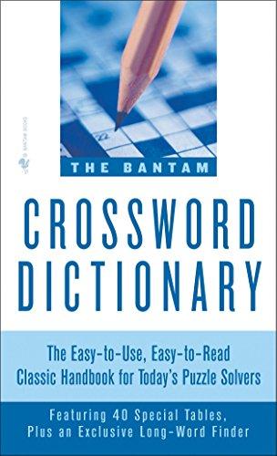 Bantam Crossword Dictionary By Walter D. Glanze
