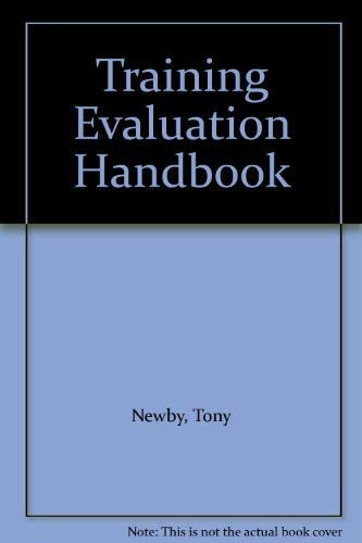 Training Evaluation Handbook By Tony Newby